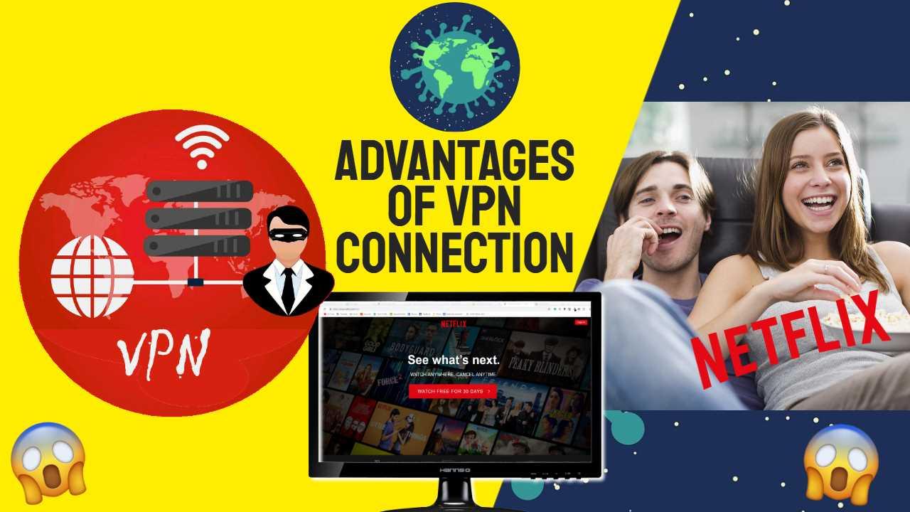 """Image text: """"Advantages of VPN Connection"""""""